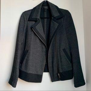 JCREW asymmetrical zip dark grey blazer/sweatshirt
